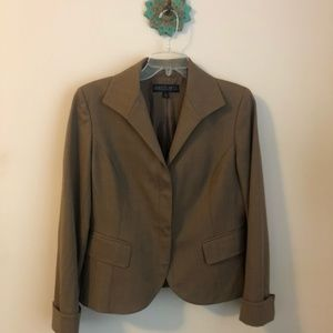 Lafayette 148 New York • brown blazer jacket